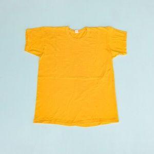 70's Plain Golden Yellow Russel Southern t-shirt